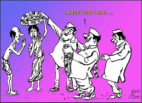 cartoon new year wish medium by aswini abani tagged newyear