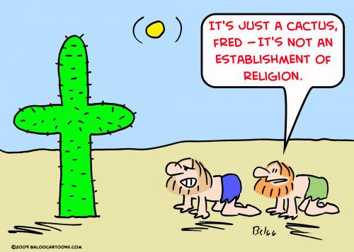 Cartoon: 1 an establishment religion cact (medium) by rmay tagged an,establishment,religion,cactus