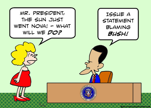 Cartoon: 1blaming bush obama sun nova (medium) by rmay tagged 1blaming,bush,obama,sun,nova