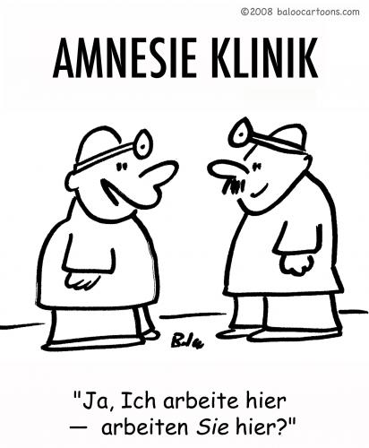 Cartoon: AMNESIE KLINIK (medium) by rmay tagged amnesie,klinik