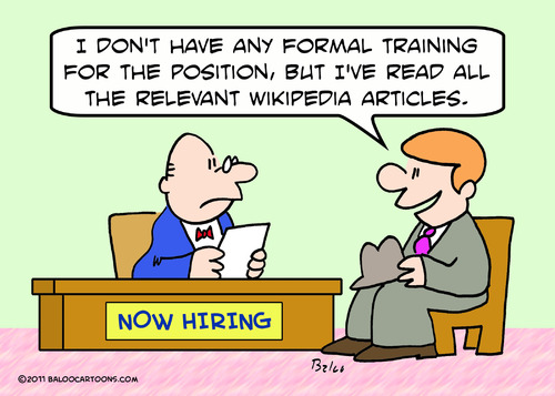 Cartoon: applicant job wikipedia (medium) by rmay tagged applicant,job,wikipedia