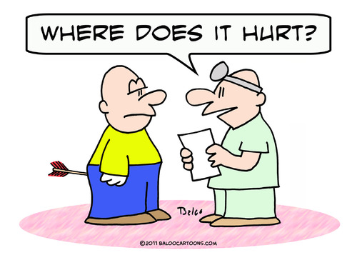 Cartoon Arrow Doctor Where Hurt Patient Medium By Rmay Tagged