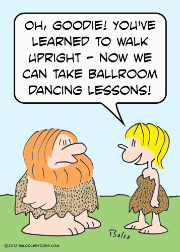 Cartoon: ballroom dancing caveman (medium) by rmay tagged ballroom,dancing,caveman