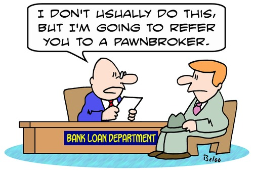 Loan Cartoons Cartoon Bank Loan Refer