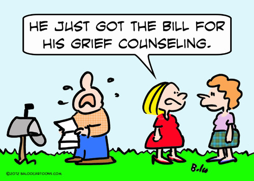 Cartoon: bill for grief counseling (medium) by rmay tagged bill,for,grief,counseling