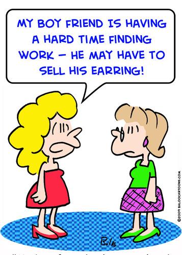 Cartoon boyfriend work sell earring medium by rmay tagged boyfriend
