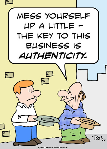 Cartoon: business authenticity panhandler (medium) by rmay tagged business,authenticity,panhandler