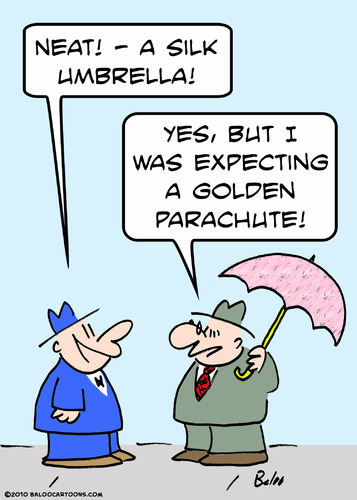 Cartoon: but golden parachute (medium) by rmay tagged but,golden,parachute