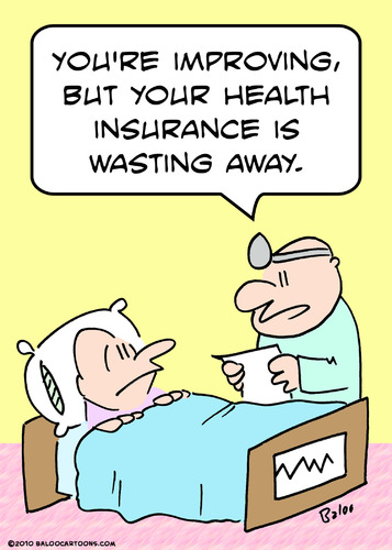 Cartoon: but health insurance wasting (medium) by rmay tagged but,health,insurance,wasting