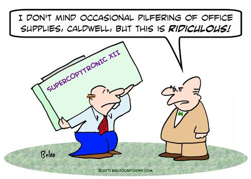 Cartoon  but ridiculous pilfer office su  medium  by rmay tagged but    Office Supplies Cartoon