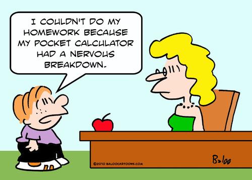 Calculator Cartoon