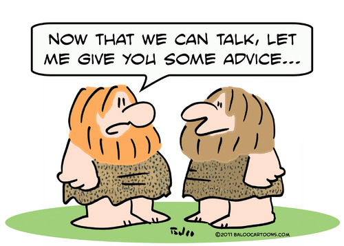 Cartoon: caveman learn talk advice (medium) by rmay tagged caveman,learn,talk,advice
