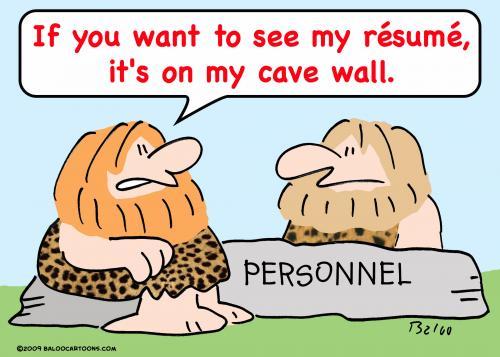 Caveman Resume By Rmay Business Cartoon Toonpool
