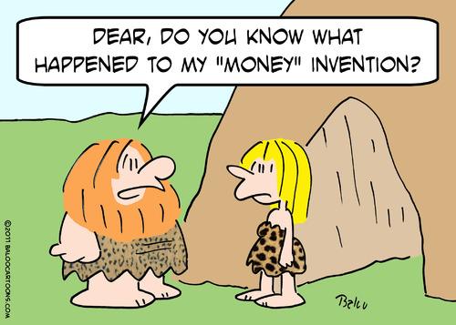Caveman Wife : Caveman wife money invention by rmay nature cartoon
