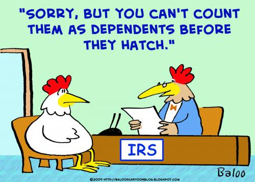 Cartoon: chickens irs dependents hatch (medium) by rmay tagged chickens,irs,dependents,hatch