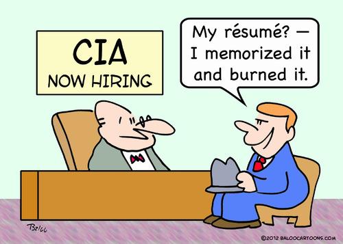 Cia Resume Memorized Burned By Rmay Politics Cartoon Toonpool