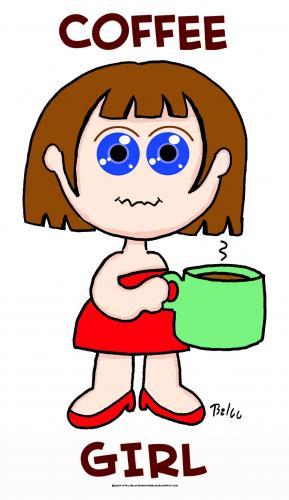 COFFEE GIRL By rmay | Media & Culture Cartoon | TOONPOOL