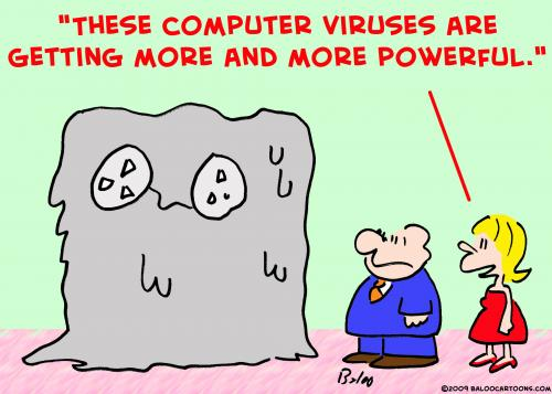 Cartoon: computer viruses powerful (medium) by rmay tagged computer,viruses,