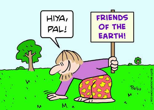 Cartoon earth friends pat hiya hippie medium by rmay tagged hippie