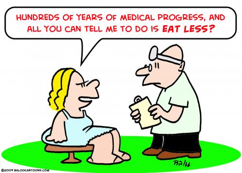 Cartoon: eat less doctor (medium) by rmay tagged eat,less,doctor