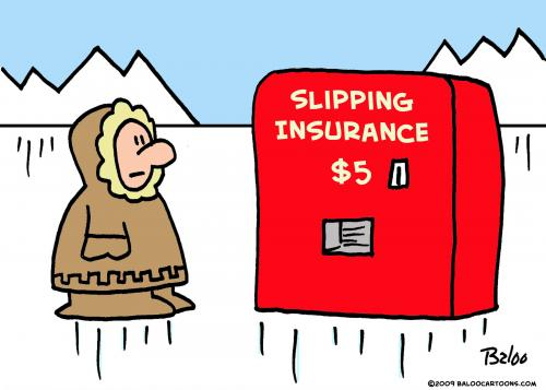 Cartoon: Eskimo slipping insurance (medium) by rmay tagged eskimo,slipping,insurance