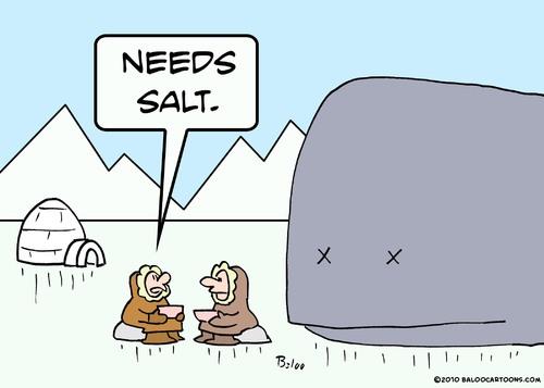 Cartoon eskimo whale needs salt medium by rmay tagged eskimo whale