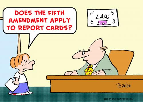 Cartoon fifth amendment
