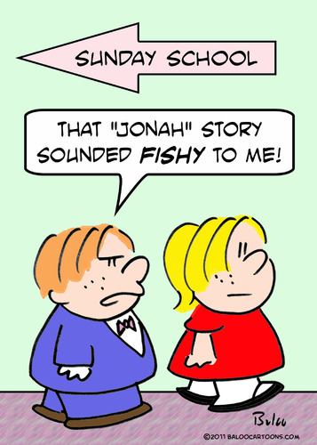 Cartoon: fishy jonah story sunday school (medium) by rmay tagged fishy,jonah,story,sunday,school