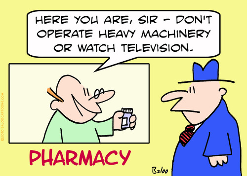 Cartoon: heavy machinery pharmacy (medium) by rmay tagged heavy,machinery,pharmacy