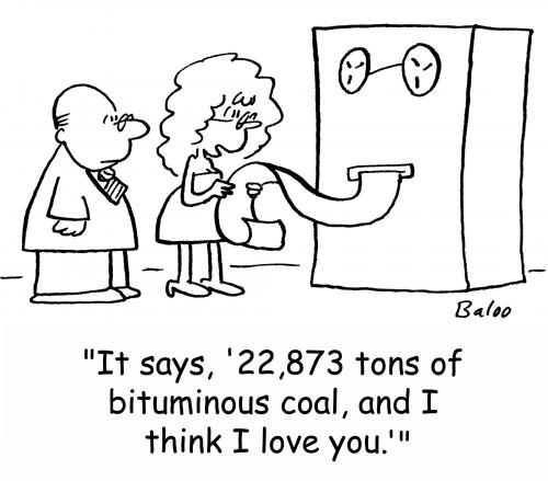 cartoons in love. Cartoon: I think I love you