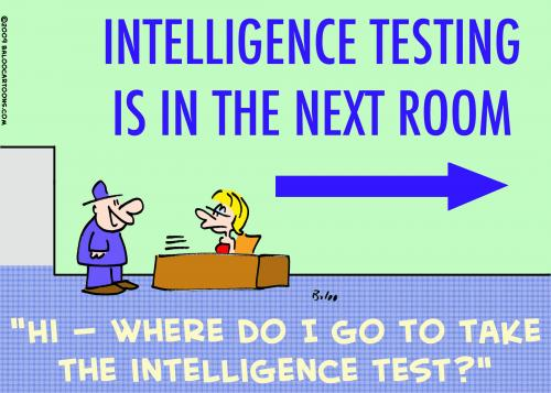 standardized testing cartoon. Intelligence Testing cartoon