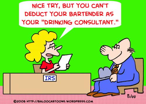 Cartoon: IRS TAXES DRINKING CONSULTANT (medium) by rmay tagged irs,taxes,drinking,consultant,bartender