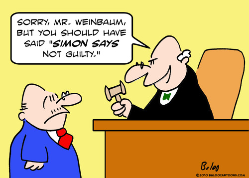 Cartoon: judge simon says not guilty (medium) by rmay tagged judge,simon,says,not,guilty