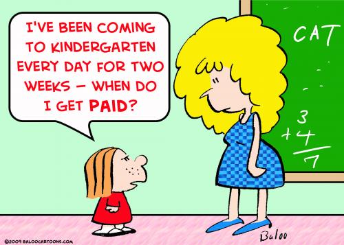 Teacher And Student Cartoon http://www.toonpool.com/cartoons/kindergarten%20paid%20teacher_46557