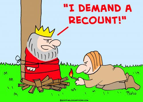 Cartoon king demand recount medium by rmay tagged king demand