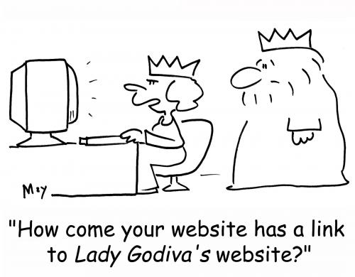 Cartoon: king godiva website (medium) by rmay tagged king,godiva,website