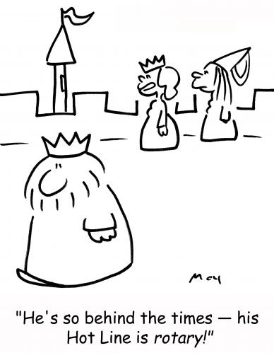 Cartoon: king hot line (medium) by rmay tagged king,hot,line