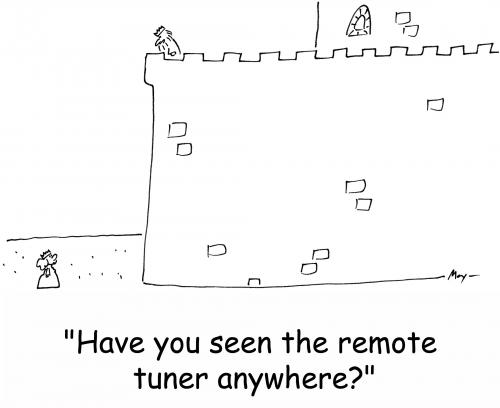 Cartoon: king remote tuner (medium) by rmay tagged king,remote,tuner