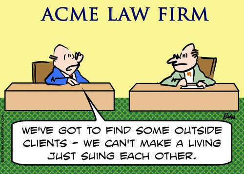 Cartoon: lawyers suing each other (medium) by rmay tagged lawyers,suing,each,other