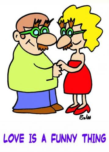 Cartoon: Love is a funny thing (medium) by rmay tagged love,funny,groucho,glasses