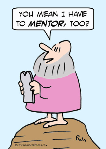 Cartoon: Moses mentor (medium) by rmay tagged moses,mentor