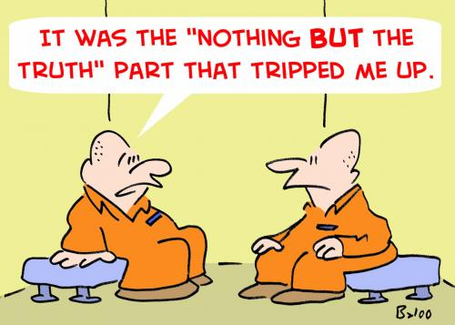 Cartoon: NOTHING BUT THE TRUTH PRISONERS (medium) by rmay tagged nothing,but,the,truth,prisoners