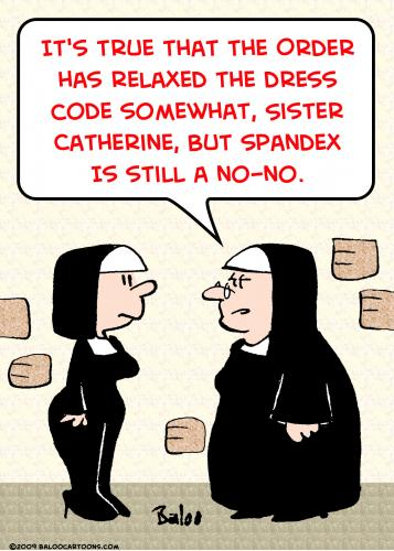 Cartoon Nuns Spandex Dress Code Medium Rmay Tagged