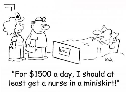 Cartoon: nurse in a miniskirt (medium) by rmay tagged nurse,in,miniskirt