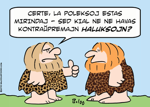 Cartoon: opposable toes caveman esperanto (medium) by rmay tagged opposable,toes,caveman,esperanto
