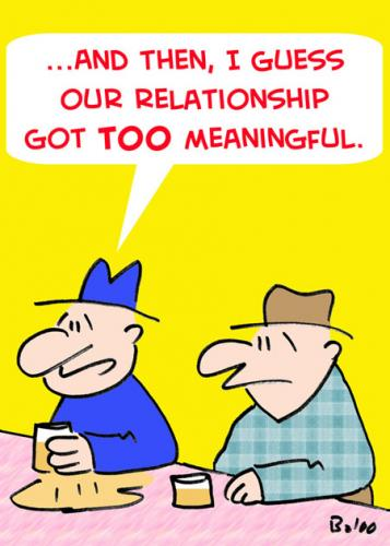 Cartoon: RELATIONSHIP TOO MEANINGFUL (medium) by rmay tagged relationship,too,meaningful