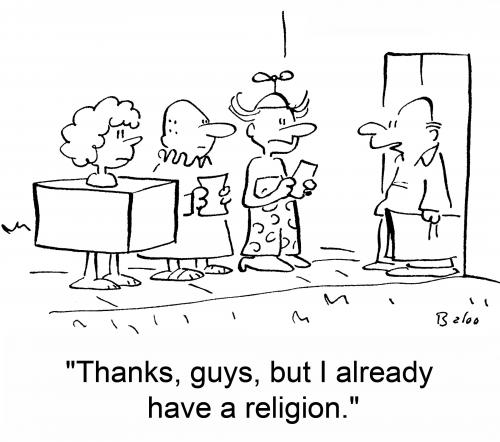 Cartoon: Religion (medium) by rmay tagged religion