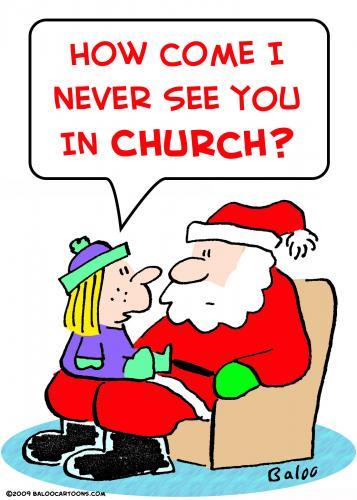 santa claus pictures cartoon. Cartoon: santa claus church (medium) by rmay tagged santa,claus,church