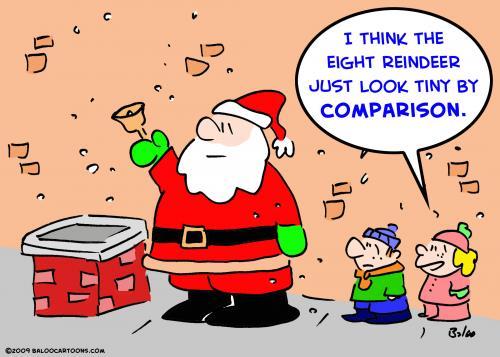 santa claus pictures cartoon. Cartoon: santa claus eight reindeer (medium) by rmay tagged santa,claus,