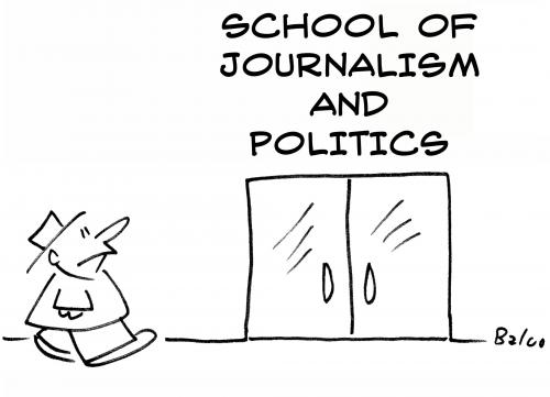 Cartoon: school of journalism politics (medium) by rmay tagged school,of,journalism,politics